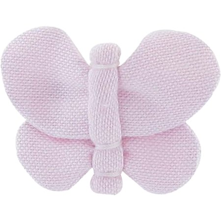 Barrette petit papillon oxford rose