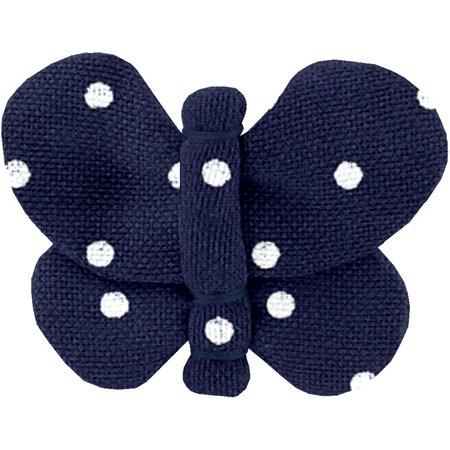 Butterfly hair clip navy blue spots