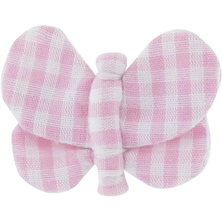 Butterfly hair clip pink gingham