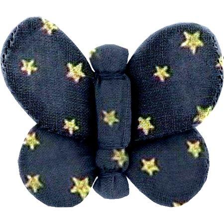 Barrette petit papillon etoile marine or