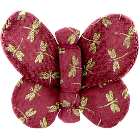Butterfly hair clip ruby dragonfly