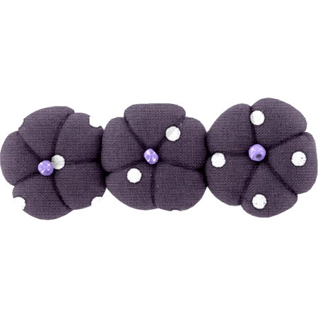 Pumpkin hair slide plum spots