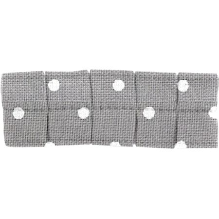 Small pleated hair slide light grey spots