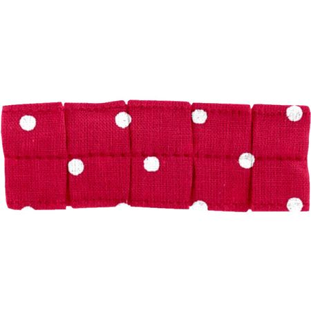Small pleated hair slide red spots