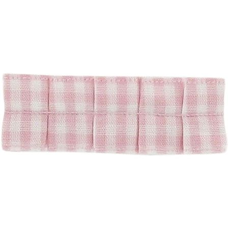 Small pleated hair slide pink gingham