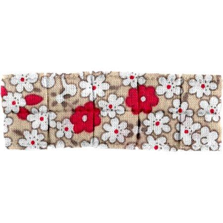 Petite barrette plissée fleurette rouge