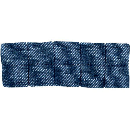 Small pleated hair slide light denim