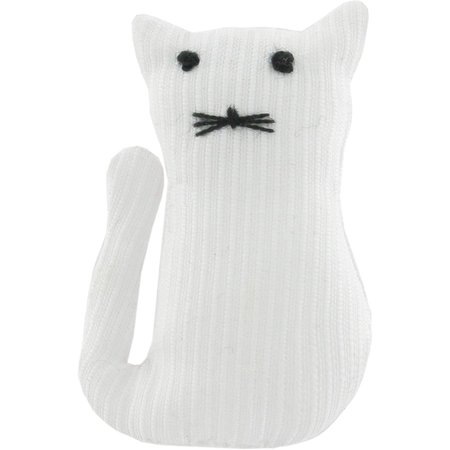 Pasador pequeño gato blanco