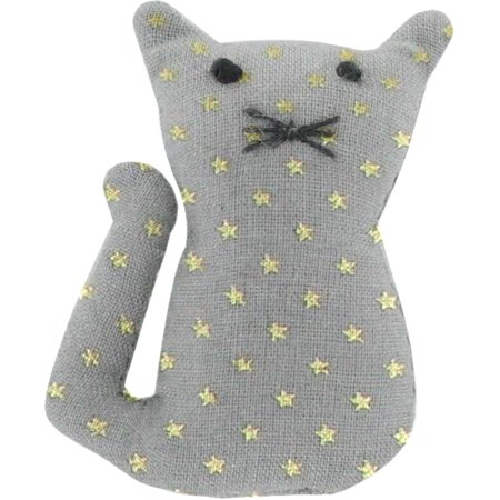 Small cat hair slide etoile or gris