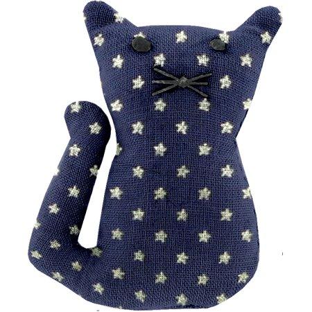 Petite barrette chat etoile marine or