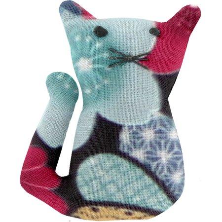 Petite barrette chat fleurs du mékong