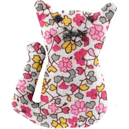 Petite barrette chat jasmin rose