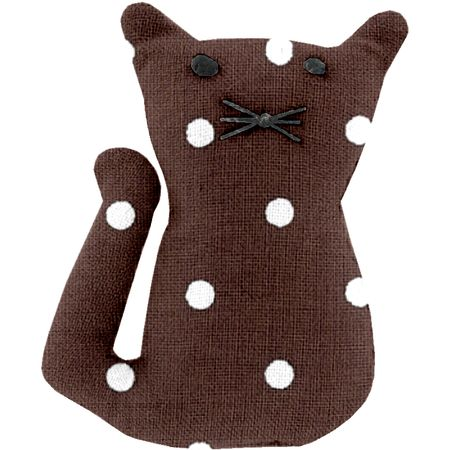 Small cat hair slide brown spots