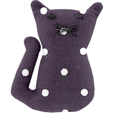 Pasador pequeño gato lunares ciruela