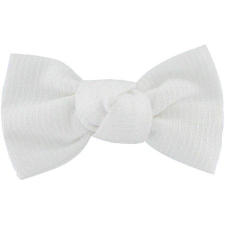 Barrette petit noeud blanc