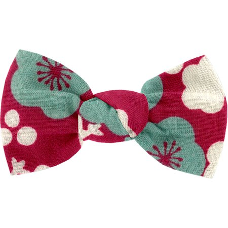 Small bow hair slide ruby cherry tree