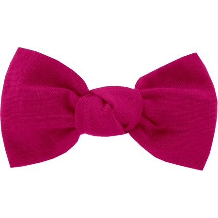 Small bow hair slide fuschia