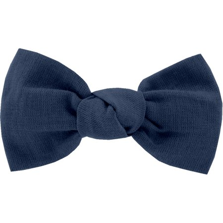 Small bow hair slide navy blue