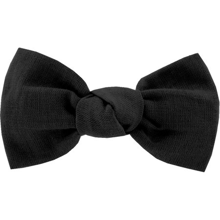 Small bow hair slide black
