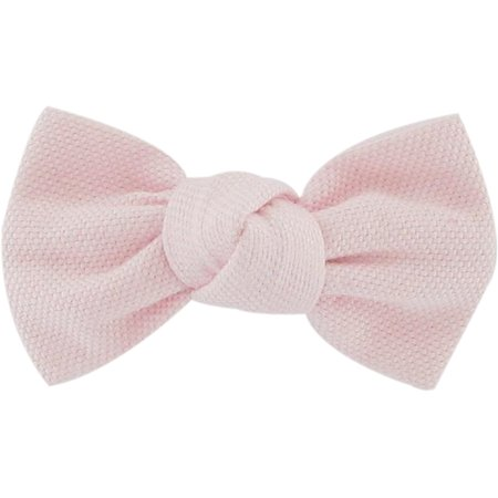 Barrette petit noeud oxford rose