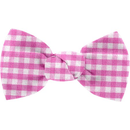 Small bow hair slide fuschia gingham