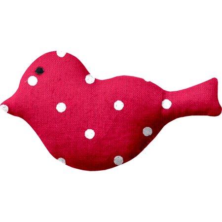Petite barrette oiseau pois rouge