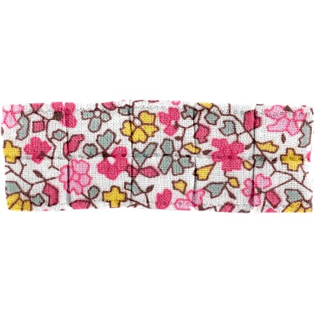 Small pleated hair slide pink jasmine