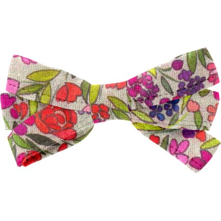 Ribbon bow hair slide purple meadow