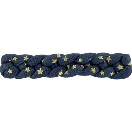 Plait hair slide etoile or marine