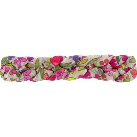 Plait hair slide purple meadow