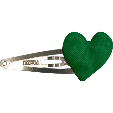 Pasador de pelo corazon verde brillante