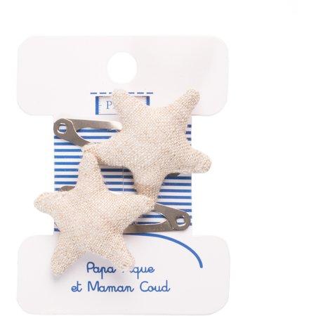 Pasador de pelo estrella lino brillo