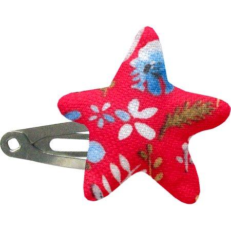 Star hair-clips cherry cornflower