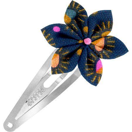 Barrette clic-clac fleur étoile  coeur scintillants