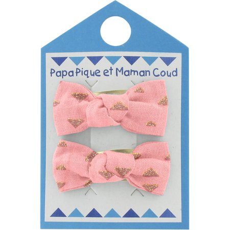 Small bows hair clips triangle or poudré