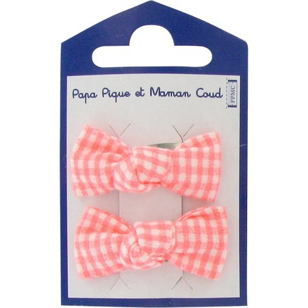 Small bows hair clips vichy peps