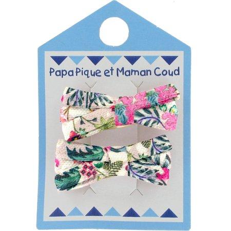 Small ribbons hair clips spring