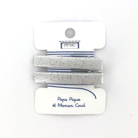 Barrette croco moyenne argenté cr046