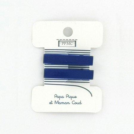 Petite barrette croco bleu navy cr040