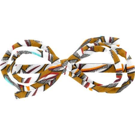 Barrette noeud arabesque cabosses