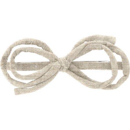 Arabesque bow hair slide  glitter linen