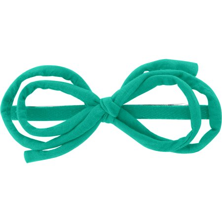 Arabesque bow hair slide green laurel