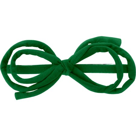 Arabesque bow hair slide bright green