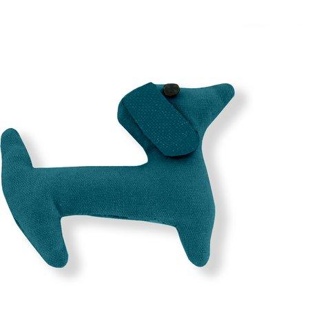 Pasador de pelo en forma de perro bleu vert