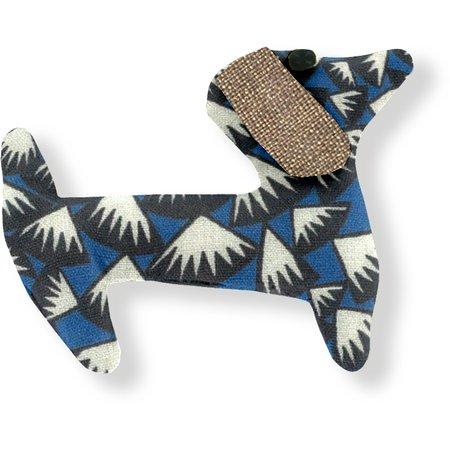 Basset hound hair clip parts blue night