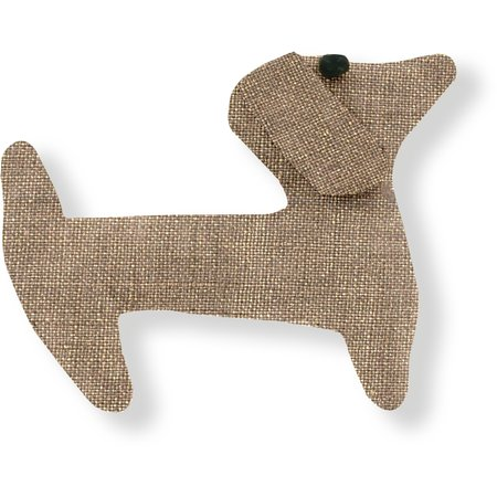 Basset hound hair clip gold linen