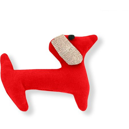 Pasador de pelo en forma de perro rojo mandarina