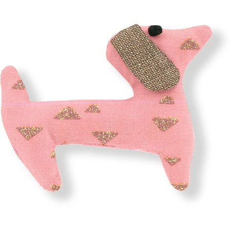 Basset hound hair clip powdered gold triangle