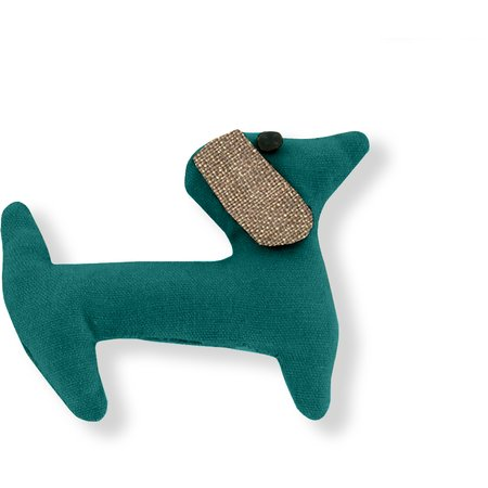 Basset hound hair clip emerald green