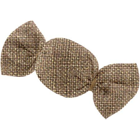 Mini sweet hairslide gold linen